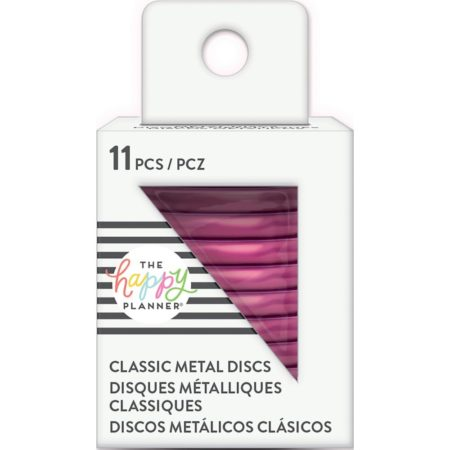 "Create 365 Happy Planner Discs 1.25"" Metal - Hot Pink"