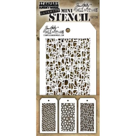 Tim Holtz - Layering stencil - Mini Set 35 - Set 35