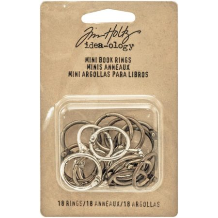 "Tim Holtz Idea-Ology - Mini Book Rings .75"" - TH93272"