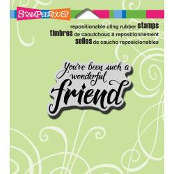 Stampendous - Cling Stamp - Penned Friend - CRH315