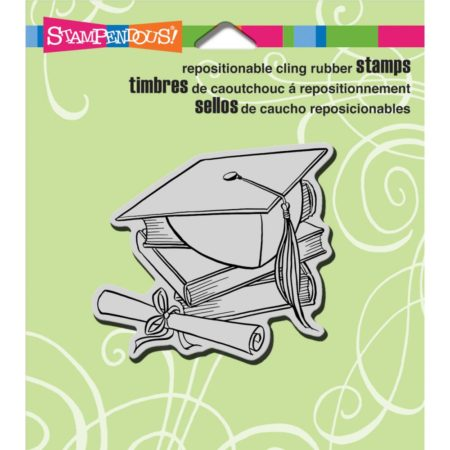 Stampendous - Cling Stamp - Cap & Scroll - CRV294
