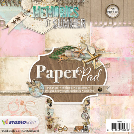 Studio Light Papirblok - Memories of summer - PPMS77