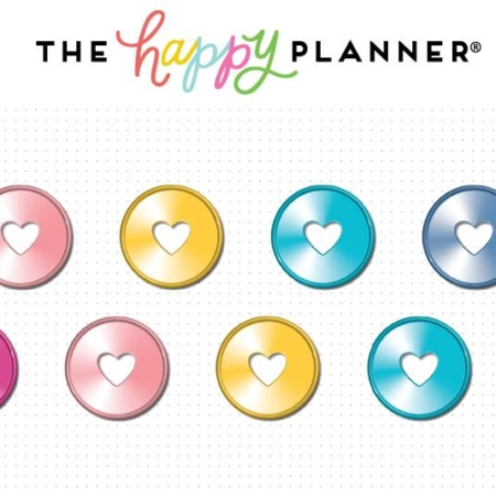 "Create 365 Happy Planner Discs 0.75"" Metal - Rainbow"