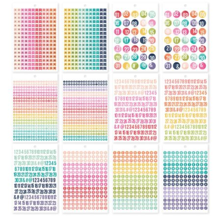 Simple Stories Carpe Diem A5 Tablets Stickers Planner Numbers