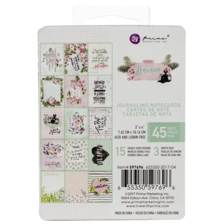 "Prima Marketing - Havana Journaling Cards Pad 3""x 4"" - 597696"