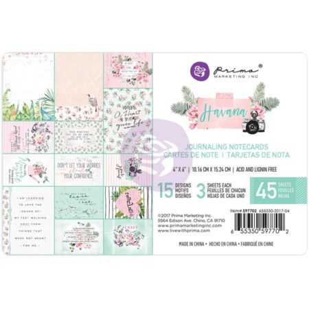 Prima Marketing - Havana Journaling Cards Pad - 597702