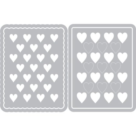 Sizzix Framelits Dies By Eileen Hull - Hearts Journaling Cards