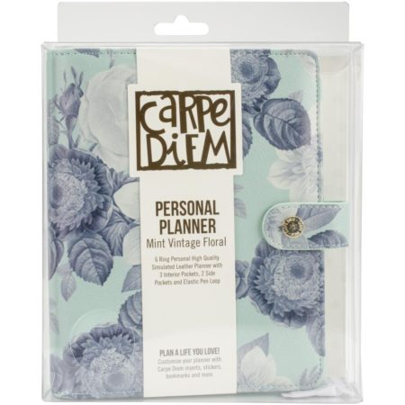 Simple Stories Carpe Diem Personal Planner Mint Vintage Floral
