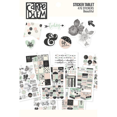 Simple Stories Carpe Diem A5 Tablets Stickers Beautiful