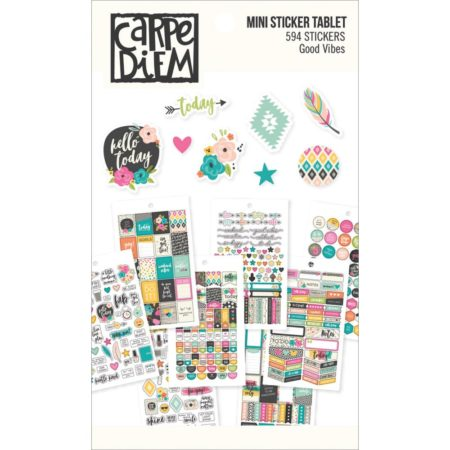 Simple Stories Carpe Diem Mini Tablets Stickers Good Vibes