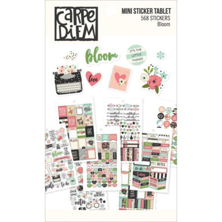 Simple Stories Carpe Diem Mini Tablets Stickers - Bloom