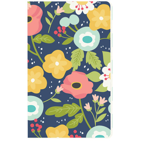 Carpe Diem Traveler's Notebookaith Navy Floral Doc-It Journal
