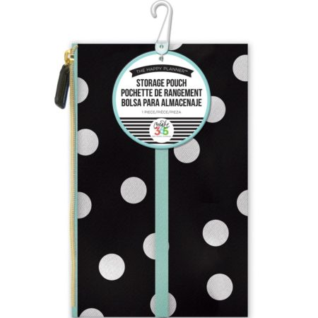 Happy Planner Create 365 - Zipper Pouch White Scattered Dot