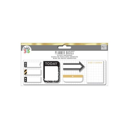 Happy Planner Create 365 Sticky Notespads Black/White/Gold