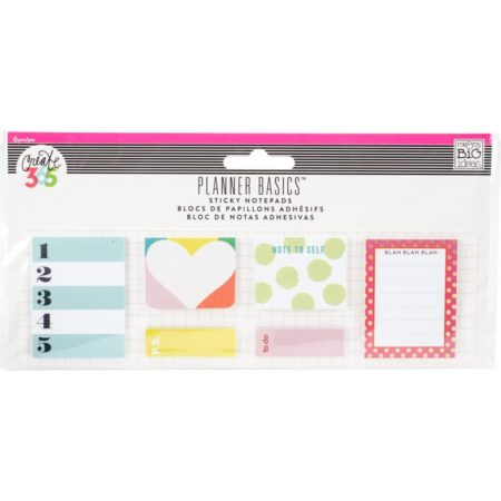 Happy Planner Create 365 Sticky Notespads Bright - Classic