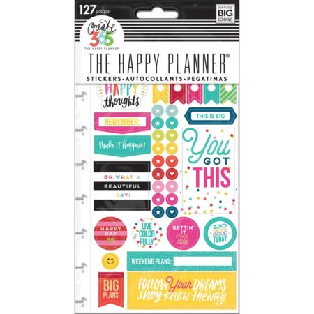 Happy Planner Create 365 Sticker - Happy Brights - Classic