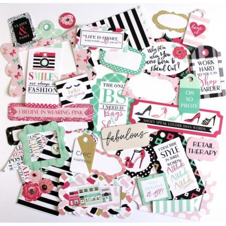 Fashionista Cardstock Die-Cuts - Frames & Tags