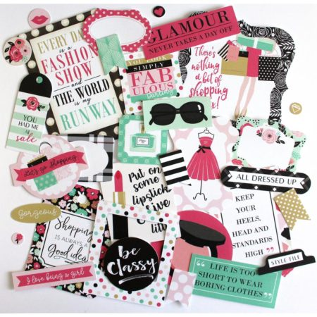 Echo Park - Fashionista Cardstock Die-Cuts - Icons