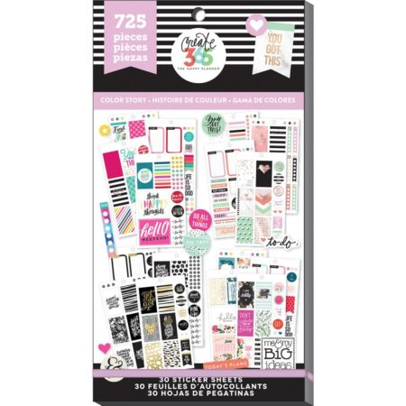Happy Planner Create 365 Sticker - Color Story - Classic