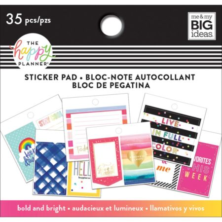 Happy Planner Tiny Sticker Pad - Bold And Bright