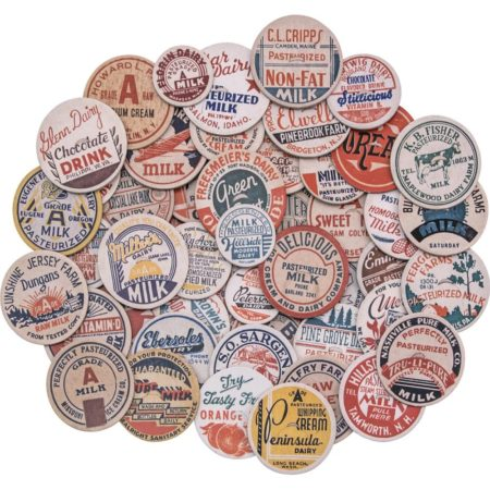 Tim Holtz - Idea-Ology Chipboard Milk Caps - TH93684