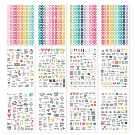 Simple Stories Carpe Diem A5 Tablets Stickers Planner Calendar