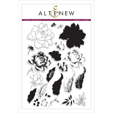 Altenew - Peony Bouquet Stamp Set