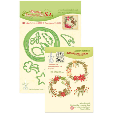 Leane - Die Cut & Embossing - Christmas Wreath - 45.5398