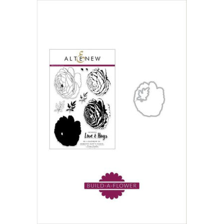 Altenew Stamp & Die Set - Build-A-Flower - Ranunculus