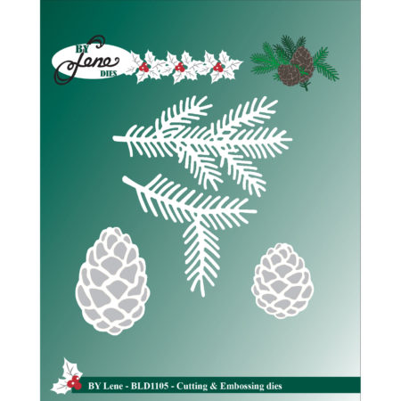 By Lene Dies - Branch and pine cone - BLD1105