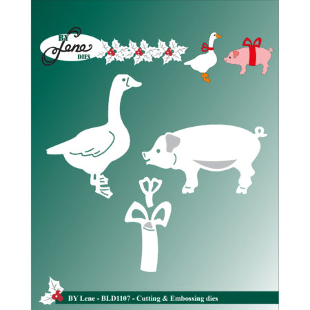By Lene Dies - Christmas Pig And Duck - BLD1107