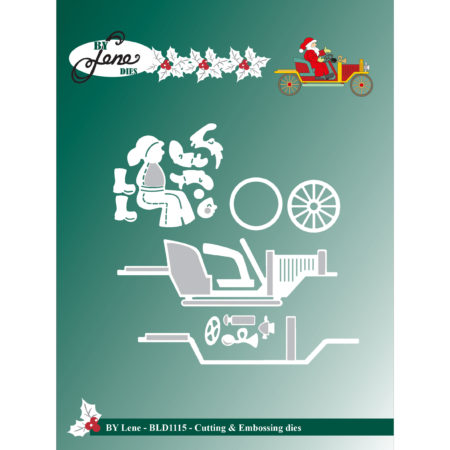 By Lene Dies - Santa Claus in Car - BLD1115