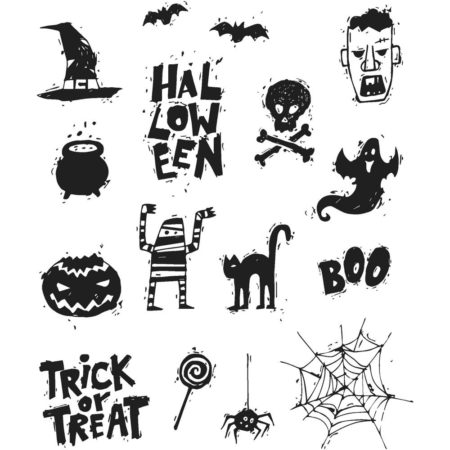 Tim Holtz - Cling Stamps - Spooky Scribbles - CMS349