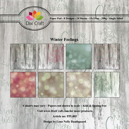 DIXI CRAFT PAPIRSBLOK - Winter Feelings - PPL005