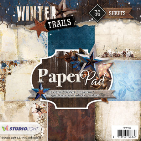 Studio Light Papirblok Winter Trails - PPWT97