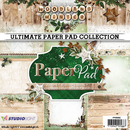 Studio Light Papirblok Woodland Winter - PPWW92