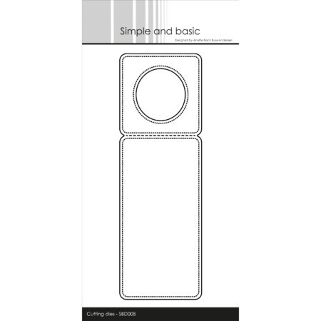 Simple and Basic Dies - Pierced Bottle Label - SBD008