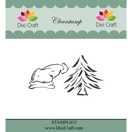 Dixi Craft Stempel - Christmas elf hat & Christmas tree - STAMPL0112