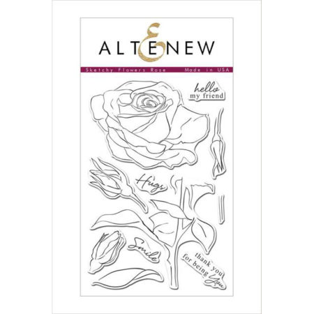 Sketchy Flowers Rose Stamp Set