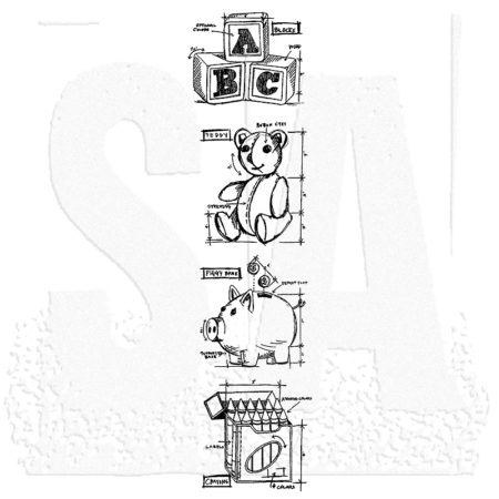 Tim Holtz -Cling Stamps - Mini Blueprints Baby