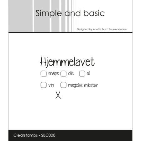 Simple and Basic Stempel - Hjemmelavet - SBC008