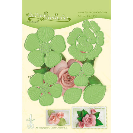 Leane - Die Cut & Embossing - 3D Rose Flower - 45.5350