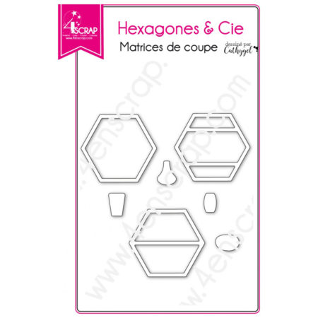 4enscrap Dies - deco vase - Hexagons & Co - 4EN-431