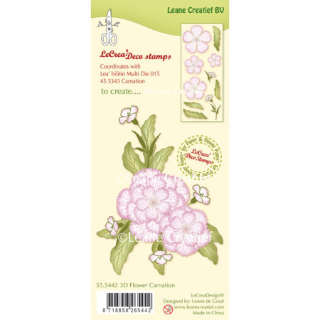 Leane Clearstamp - 3D Flower carnation - 55.5442