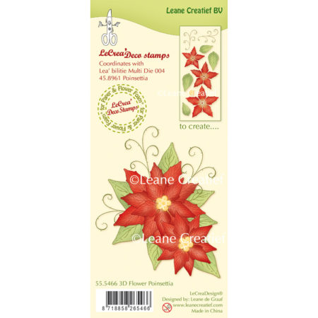 Leane Clearstamp - 3D Flower Poinsettia - 55.5466