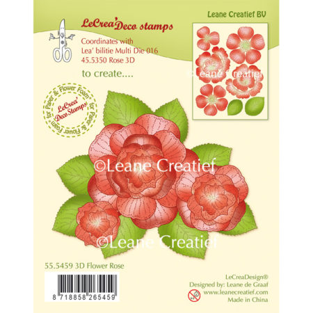 Leane Clearstamp - 3D Flower Flower Rose - 55.5459