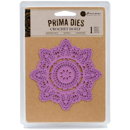 Prima Marketing Purple Metal Die - Crochet Doily - 584054