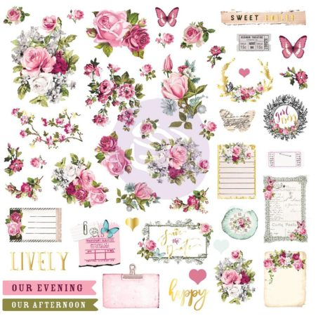 Prima - Misty Rose Ephemera & Stickers - 631024