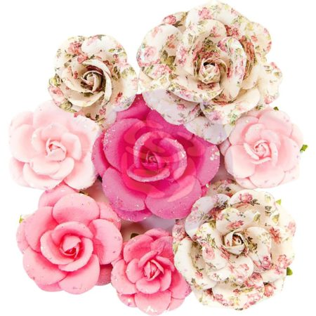 Prima - Misty Rose Mulberry Paper Flower - Olivia - 634612