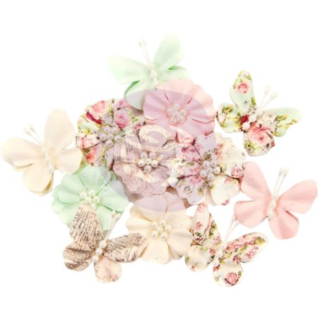 Prima - Misty Rose Fabric Flowers - Dacey - 634629